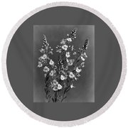 Close Up Of Gentian Speedwell Flowers Round Beach Towel