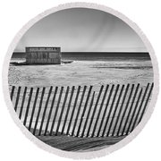 Closed For The Season Round Beach Towel by Scott Norris