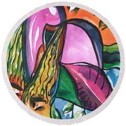 Closer Round Beach Towel