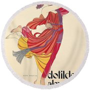 Clotilde And Alexandre Sakharoff Round Beach Towel