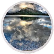 Round Beach Towel featuring the photograph Cloud Catcher by David Andersen
