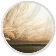 Cloud Chaos Round Beach Towel