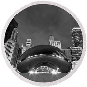 Cloud Gate And Skyline Round Beach Towel