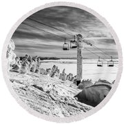 Cloud Lift Round Beach Towel