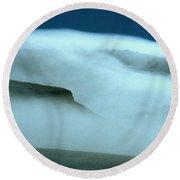 Cloud Mountain Round Beach Towel by Ed  Riche