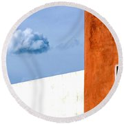 Cloud No 9 Round Beach Towel by Prakash Ghai