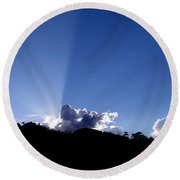 Cloud Rays Round Beach Towel