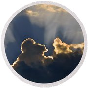 Round Beach Towel featuring the photograph Cloud Shadows by Charlotte Schafer