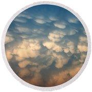 Cloud Texture Round Beach Towel