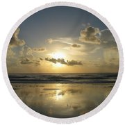 Clouds Across The Sun 2 Round Beach Towel