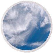 Clouds  Round Beach Towel