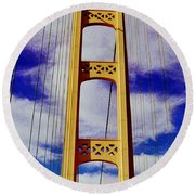 Round Beach Towel featuring the photograph Clouds by Daniel Thompson