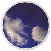 Round Beach Towel featuring the photograph Clouds by Mark Greenberg