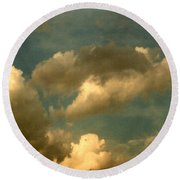Clouds Of Yesterday Round Beach Towel by Anita Lewis