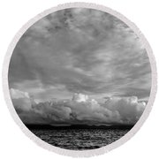 Clouds Over Alabat Island Round Beach Towel