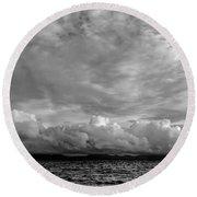 Clouds Over Alabat Island Round Beach Towel