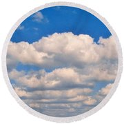 Clouds Over Lake Pontchartrain Round Beach Towel by Deborah Lacoste