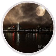 Victoria London  Round Beach Towel