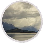 Round Beach Towel featuring the photograph Clouds Over Wakatipu #2 by Stuart Litoff