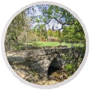 Clover Valley Park Bridge Round Beach Towel