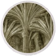 Cluny Museum Ceiling Detail Round Beach Towel