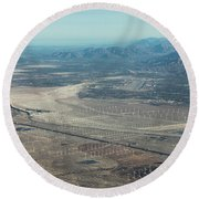 Coachella Valley Round Beach Towel