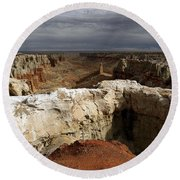 Coal Mine Mesa 08 Round Beach Towel