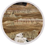 Coal Mine Mesa 19 Round Beach Towel