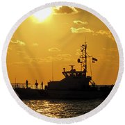 Coast Guard In Paradise - Key West Round Beach Towel