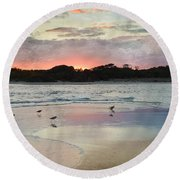 Coastal Beauty Round Beach Towel by Betty LaRue