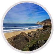 Round Beach Towel featuring the photograph Coastal Beauty by Dave Files