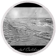 Coastal Calibration Round Beach Towel