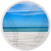 Coastal Horizon 10 Round Beach Towel