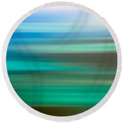 Coastal Horizon 6 Round Beach Towel