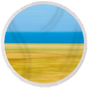 Coastal Horizon 9 Round Beach Towel