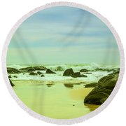 Coastal Landscape Of Sri Lanka Round Beach Towel