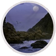 Coastal Moods Moonglo Round Beach Towel by Diane Schuster