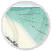 Coastal Wash Round Beach Towel by Kevin McLaughlin