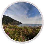Coastal Wildflowers Of Oregon Round Beach Towel