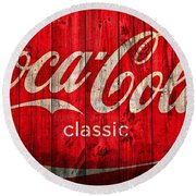 Coca Cola Barn Round Beach Towel