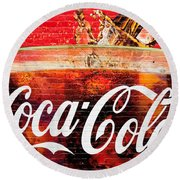 Coca Cola Round Beach Towel by Luciano Mortula
