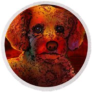 Cockapoo Dog Round Beach Towel