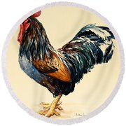 Cockerel Round Beach Towel