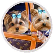 Coco And Lola Round Beach Towel