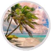 Coco Palms Round Beach Towel