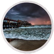 Round Beach Towel featuring the photograph Cocoa Sunrise by Steven Reed
