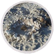 Coconut Campfire Round Beach Towel by Robert Nickologianis