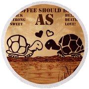 Coffee Lovers Reminder Round Beach Towel