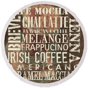 Coffee Of The Day 1 Round Beach Towel by Debbie DeWitt