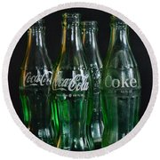 Coke Bottles From The 1950s Round Beach Towel by Paul Ward